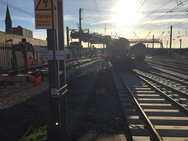 Switches and Crossings at Doncaster South: Christmas 2015, engineering, IP Track. high speed handback