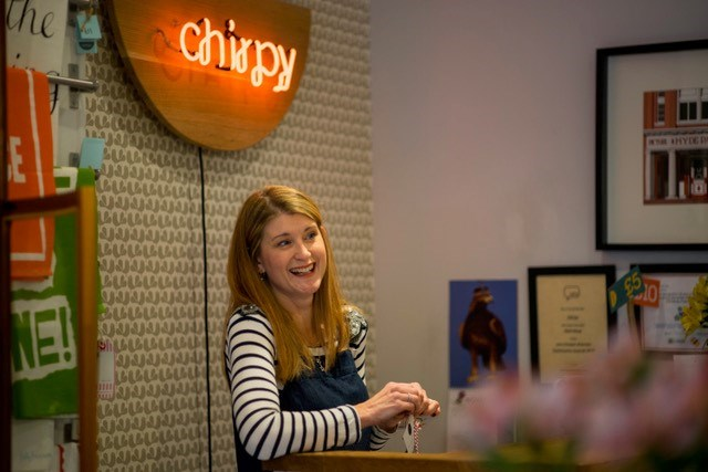 Leeds MicroBusiness Support Service: Jo McBeath, owner of Chapel Allerton-based Chirpy, a design-led gift shop and workshop space that has signed up to the Leeds MicroBusiness Support Service.