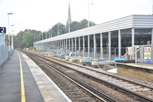 Platforms at Wokingham station are being extended to accommodate longer trains, as part of the £800 million Waterloo & South West Upgrade (2)