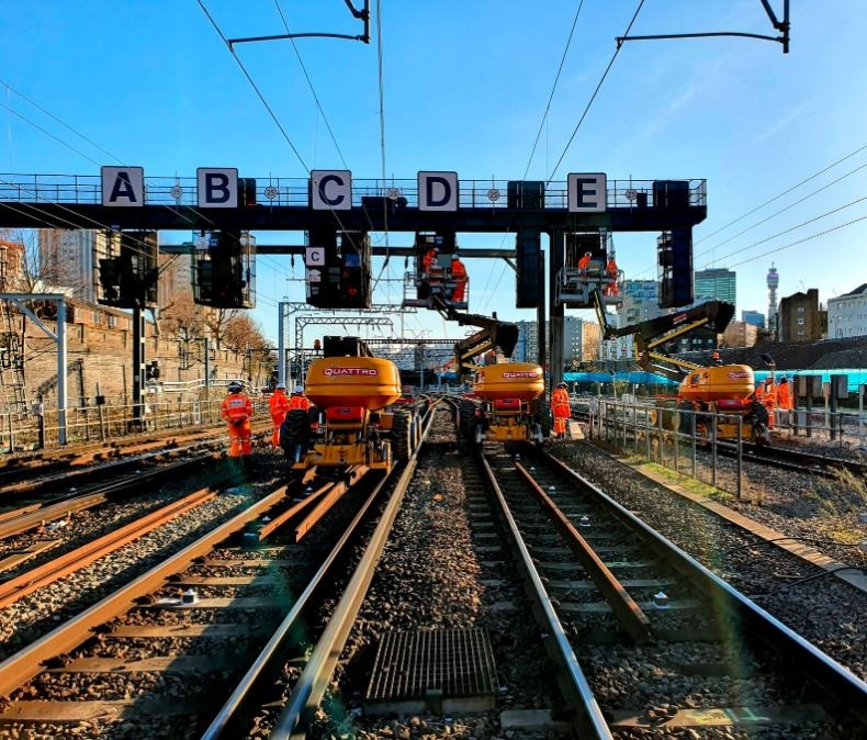 Passengers urged to check before they travel this Easter as Network Rail invests over £100m to upgrade network: Signalling upgrades at Euston