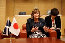 Fiona Hyslop discussing the importance of international collaboration between universities in Scotland and Japan in Nagasaki  2.jpeg