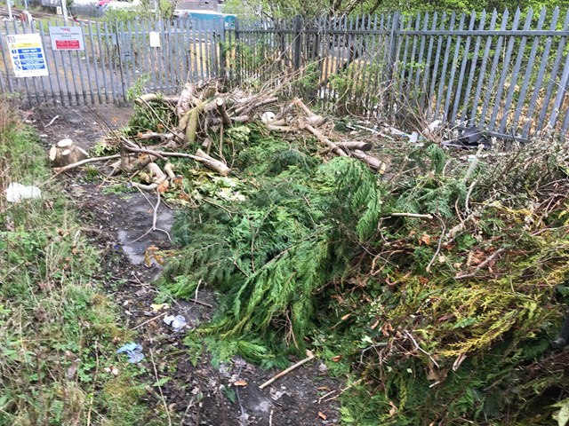 Mossend fly-tipping