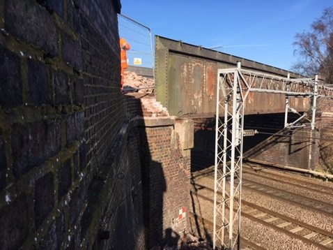 West Coast main line fully reopens through Stafford: Worston Lane bridge repairs