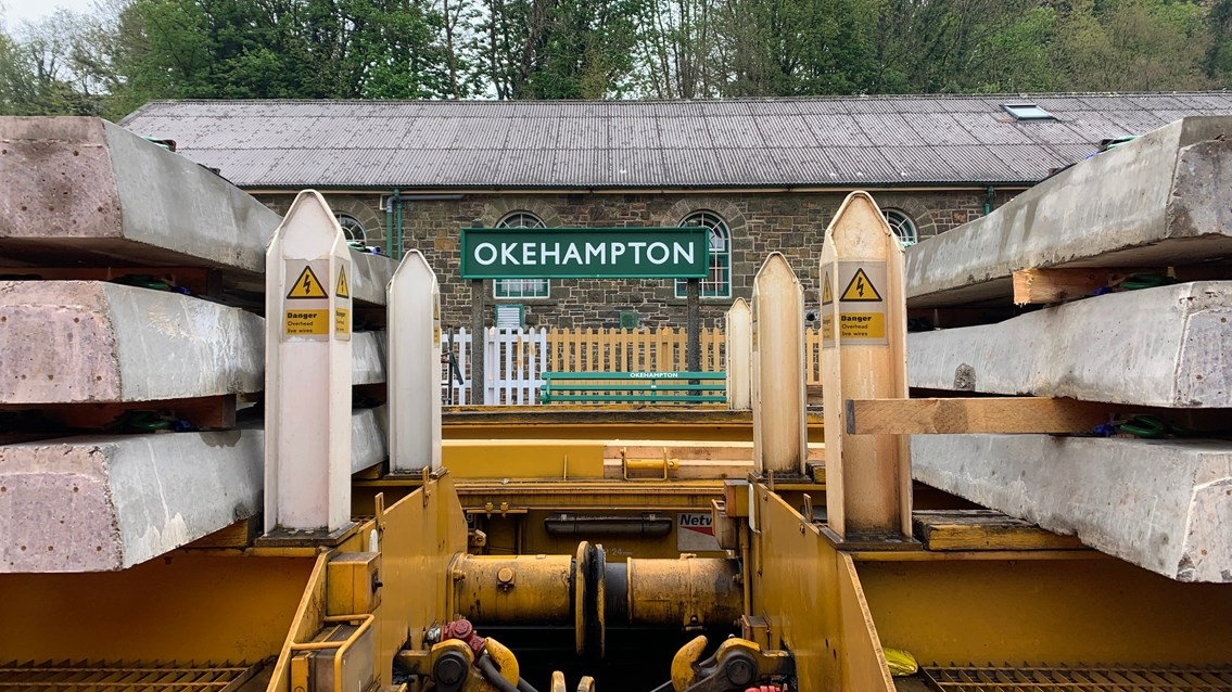 Safety warning issued as train activity to start on Dartmoor Line: Okehampton station ongoing improvements
