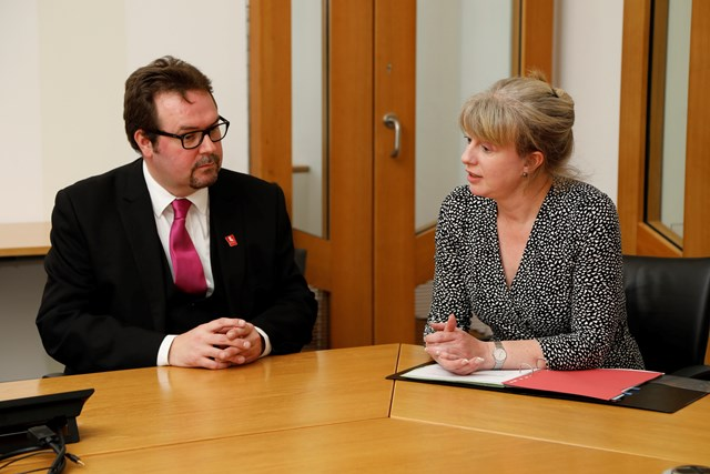 Health Secretary meets with founder of sepsis charity FEAT