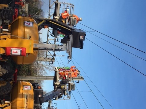 Overhead wires works at Forest Gate 1
