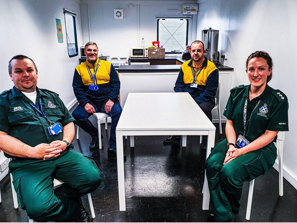 Scottish Ambulance Service Staff and Ikea furniture