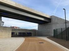 Bolina Road bridge: The transformed area around Bolina Road