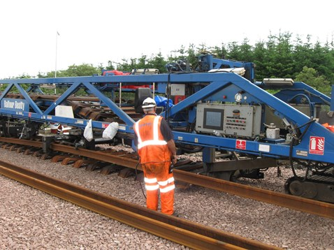 Track laying machine working on Airdrie-Bathgate line_4