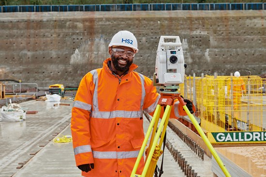 Surveying at the Long Itchington Wood site: Credit:HS2 Ltd