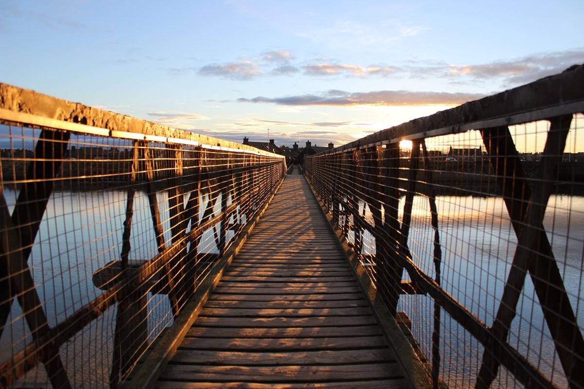 Lossiemouth East Beach footbridge