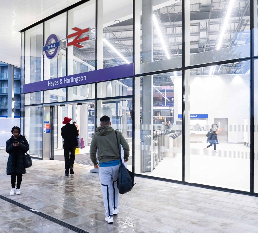 Hayes & Harlington station entrance