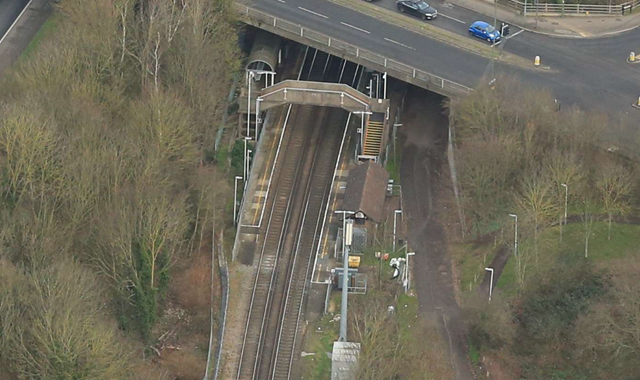 Changes to train services on the way as work starts on new platform at Upper Halliford, Surrey: Upper Halliford station