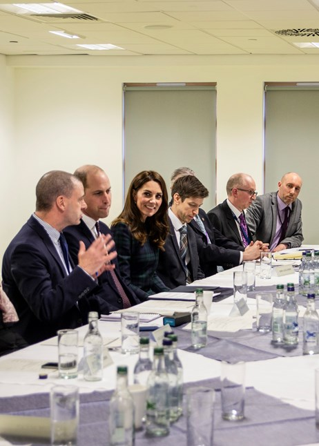 Duke and Duchess of Cambridge meet Michelin staff and attend Action Group: MDAGMeeting4