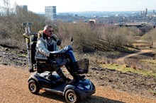 Planning for Great Places - photo from GIF Claypit-D6245 - motorised wheelchair user - 1