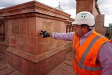 Gary Hanna, Galliford Try project manager, assessing the work