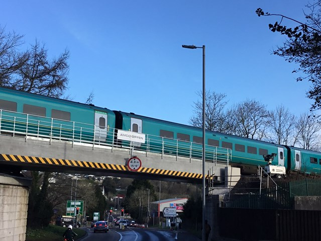 Residents and passengers thanked as bridge renewal in Haverfordwest is completed: Milford Road railway bridge (2)