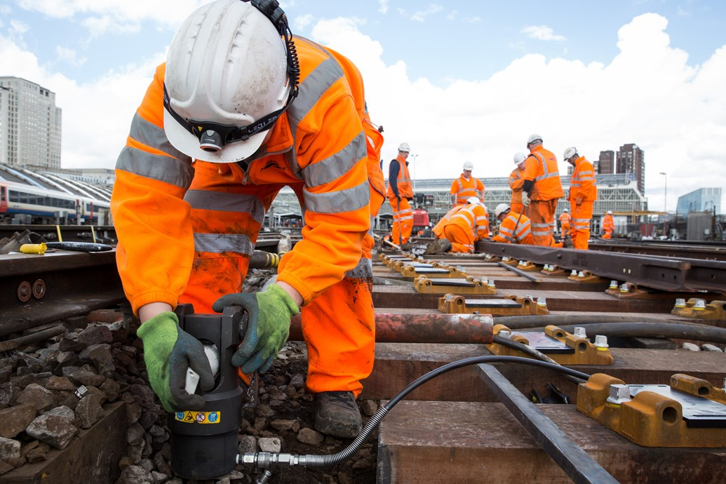 Network Rail advises south London and Surrey passengers to Check Before You Travel ahead of Easter upgrade work: During Easter 2017, track will be renewed at Waterloo station as part of a £4m upgrade
