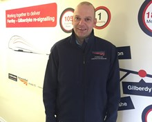Ben Cockburn, a construction manager for Network Rail