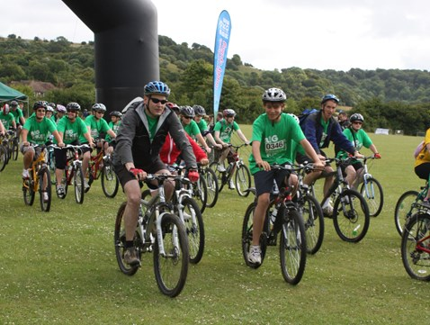 NR CEO Iain Coucher takes part in the the Big Bike Ride for the NSPCC 2