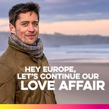 Scotland Is Now European Campaign: Love Affair EU campaign for Scotland is Now tile