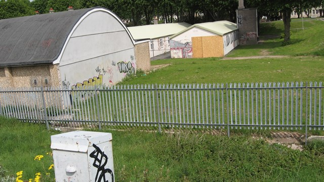Plymouth Clean-Up - Before: An example of graffiti along the railway in Plymouth