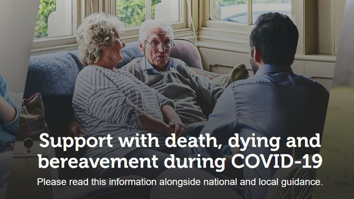 New resource to support social service workers to have conversations about death and dying: Support with death, dying and bereveament during COVID-19 (image)