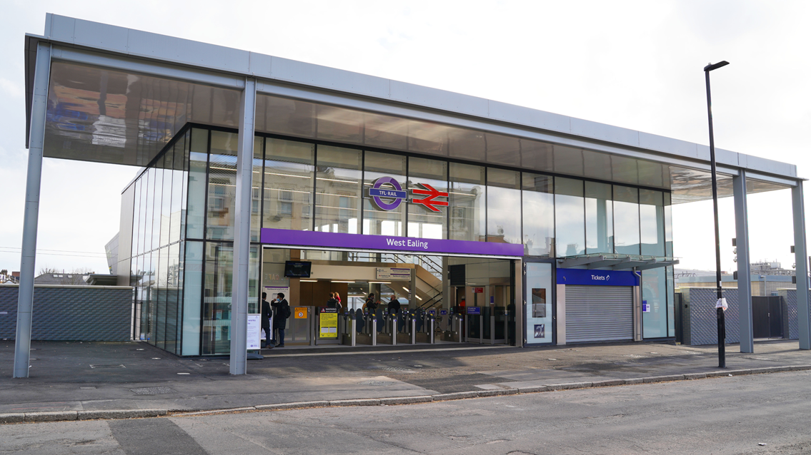 Step-free access available at West Ealing station as upgrade works complete: Front entrance of West Ealing Station