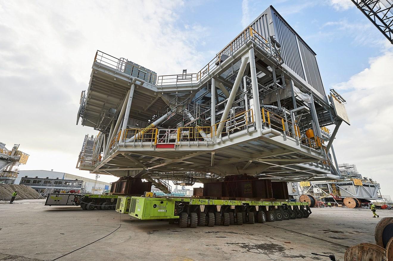 Final offshore platform sets sail for Moray East offshore windfarm: GDL 7205