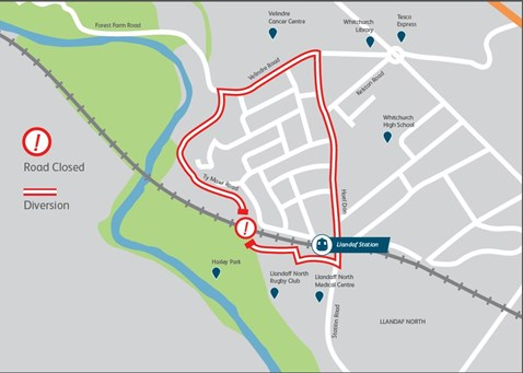 Glamorganshire Canal bridge road diversion