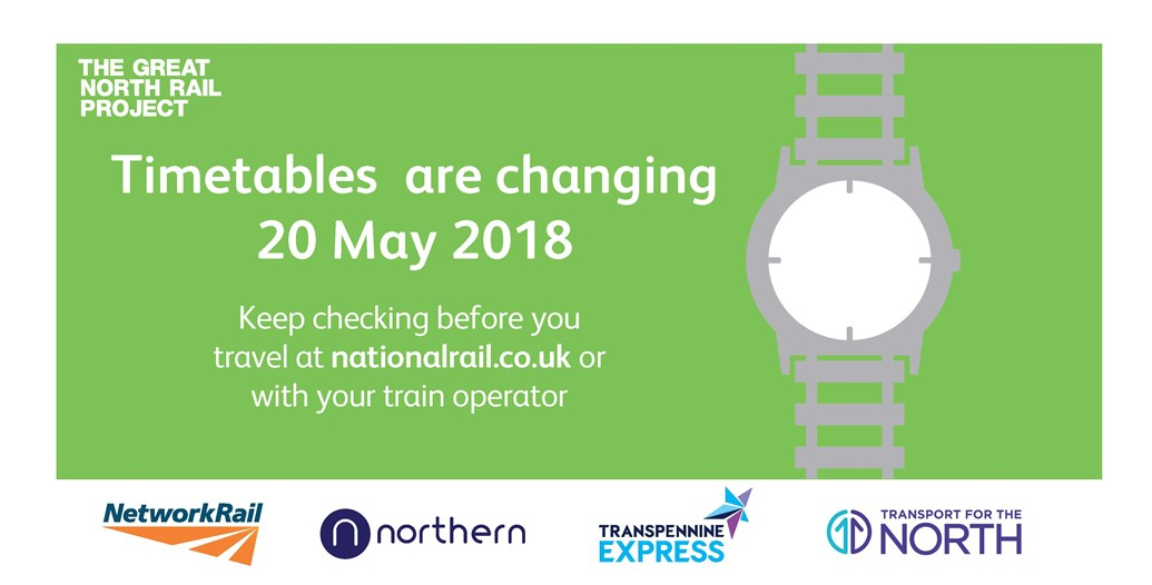 Customers urged to check before they travel ahead of major timetable change: May timetable OIS 2018
