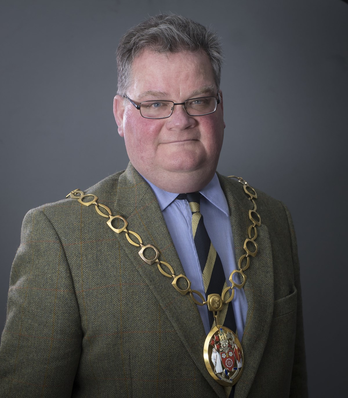 Cllr Michael Cleary, Chairman of the Council, with chain of office