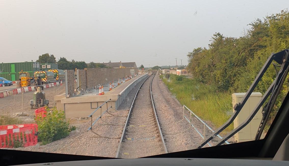 Approaching Soham station (under construction): Credit: Derek Orr