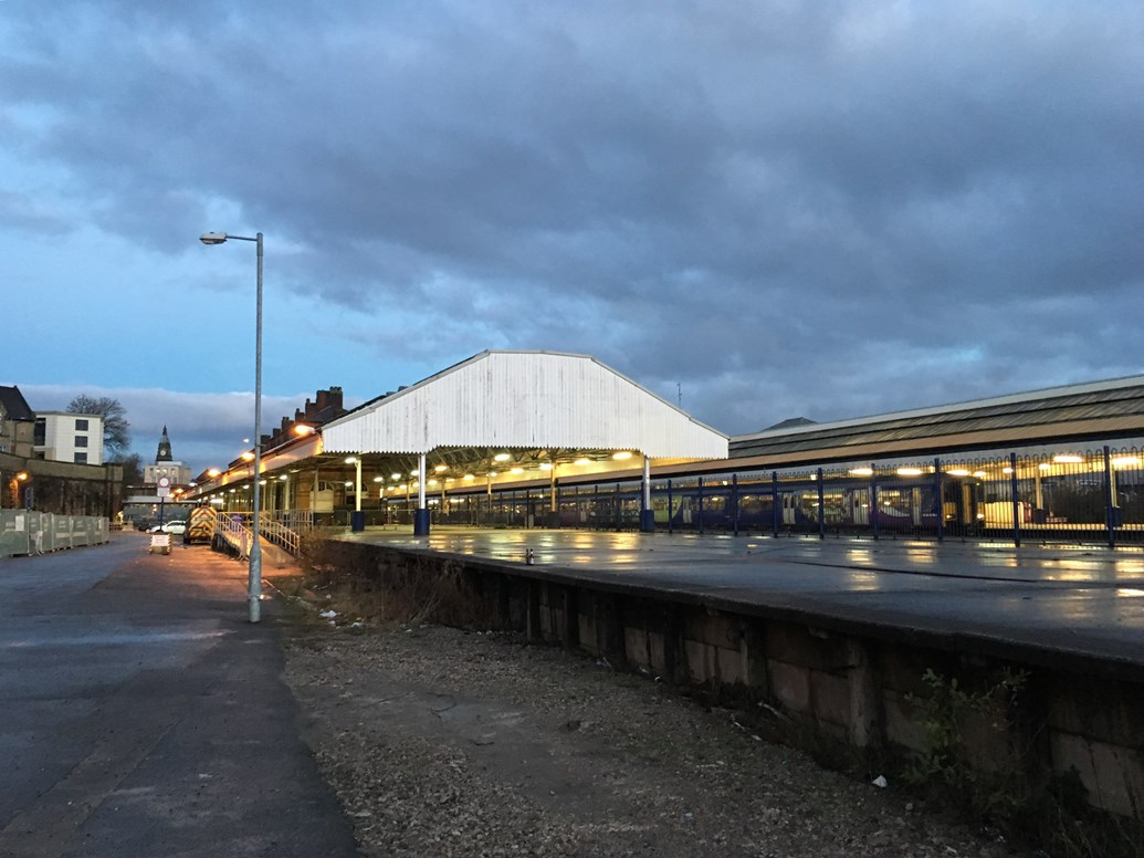 Alterations to car parking at Bolton station as major investment work continues: Bolton station platform 5, currently used as an unofficial car park