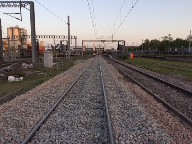 Railway reopens after successful May bank holiday upgrades are completed: Track renewal - Bletchley-3