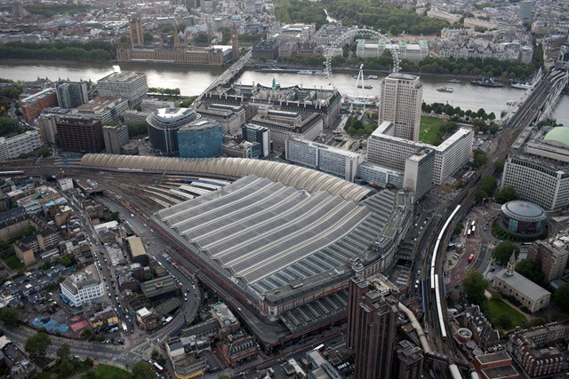 WATERLOO RETAIL BALCONY OFFERS MORE ROOM WITH A VIEW: Waterloo station aerial view (October 2010)