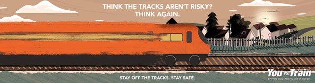 Warning to stay off the tracks after a surge in trespass incidents: You vs Train Covid19 campaign