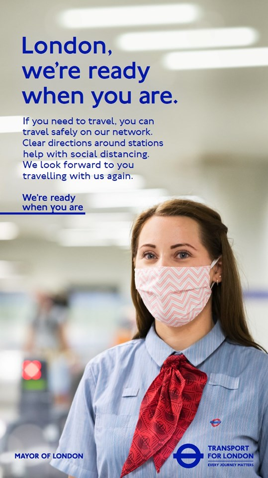 TfL Image - London Underground social distancing - we're ready