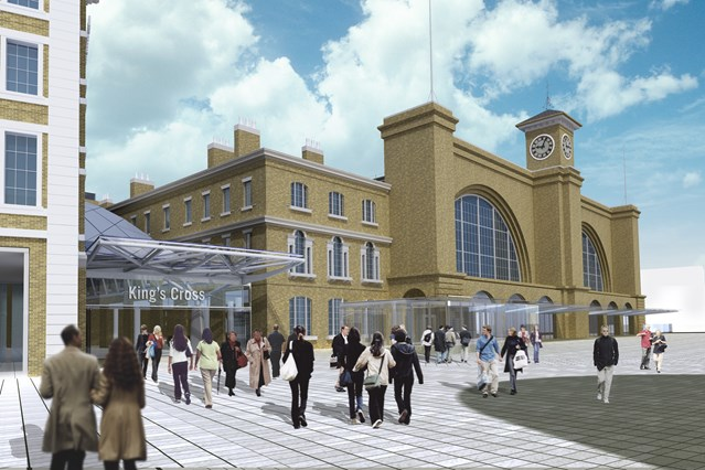 HISTORIC KING'S CROSS RESTORATION MARKS FIRST STAGE OF STATION REDEVELOPMENT: King's Cross station