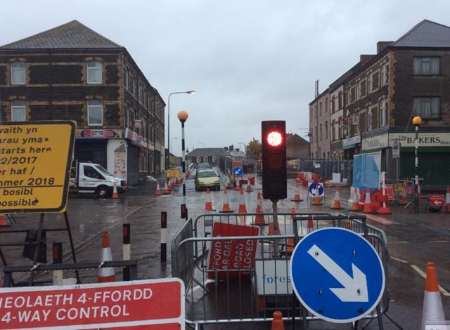 The first phase of work at Splott Road bridge is now complete