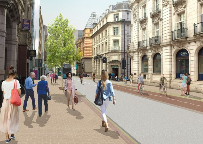 Major city centre improvement scheme enters final stages of completion: Park Row-2