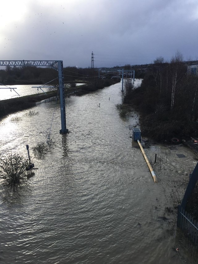 Rail passengers in South Yorkshire urged to check before travelling as severe flooding closes railway line in Rotherham: Rail passengers in South Yorkshire urged to check before travelling tomorrow as severe flooding closes railway line in Rotherham