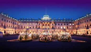 Visit London's pick of the top Christmas experiences yule not want to miss this season: NEW IMAGE Igloos at Somerset House 1-2