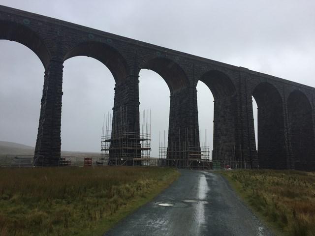 Ribblehead viaduct on Settle-Carlisle line