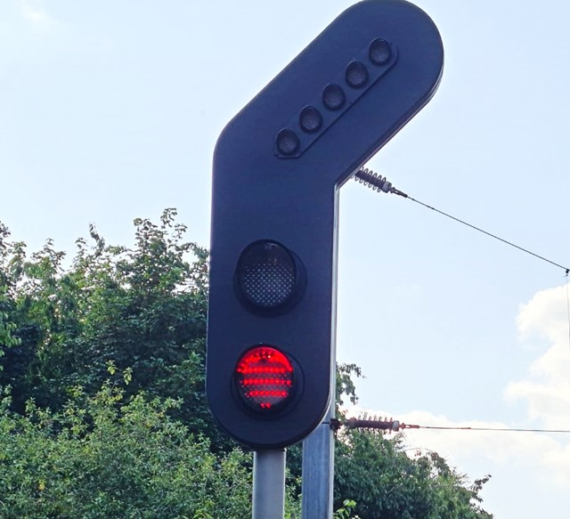 New LED signal installed as part of Trafford Park upgrade