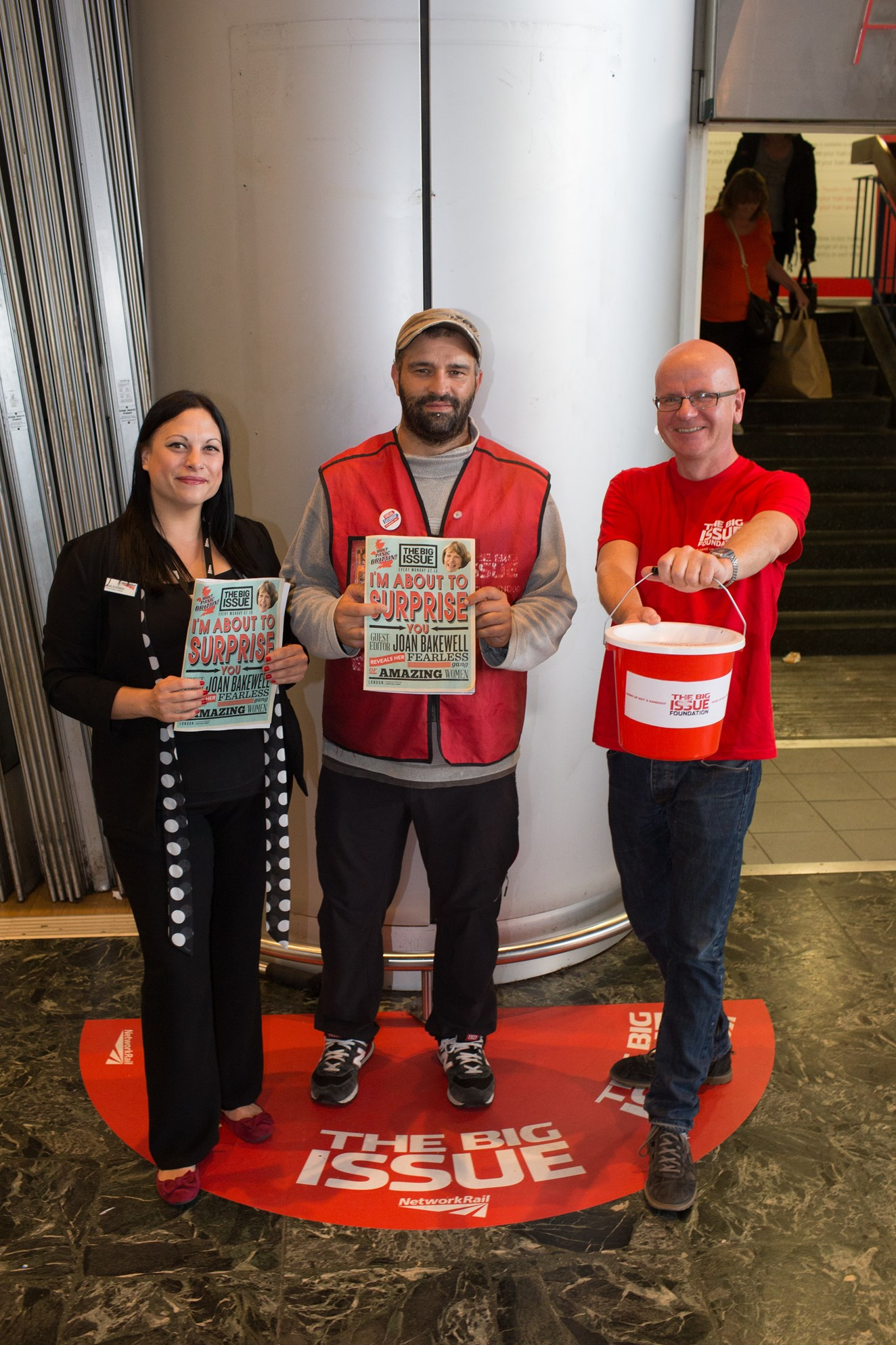 Station first as The Big Issue finds a home at Euston: Big Issue vendor pitch