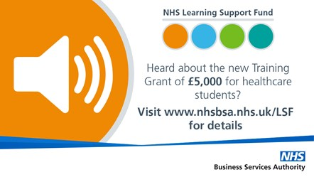 NHS LSF - Tweets-Heard about: NHS Learning Support Fund Training Grant
