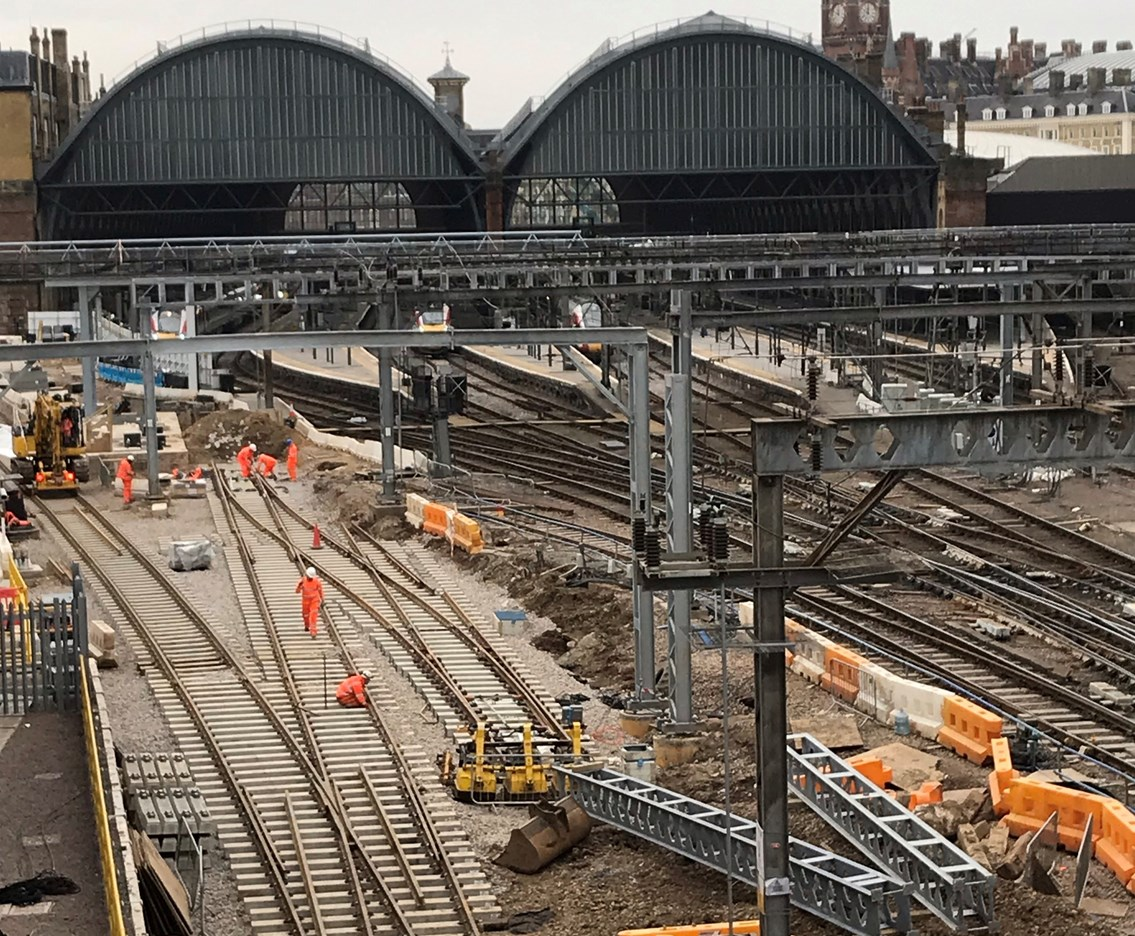 No trains to or from London King's Cross, Moorgate or St Pancras International via Finsbury Park this Friday, Saturday and Sunday as Network Rail prepares for main stage of £1.2billion upgrade: Keeping King's Cross on track – Main stage of £1.2billion upgrade begins next week