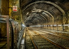 Upgraded railway in Wolvercote tunnel, Oxford