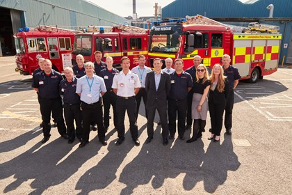 Siemens donates fire engine to Lincolnshire Fire Preservation Support Services: Fire engine